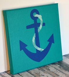 Anchor Mini Canvas Wall Hanging