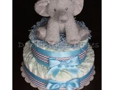 Hot air balloon diaper cake by Dapperbabycakes on Etsy