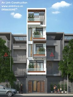 Suggest any design changes Flat House Design, 3 Storey House Design, Narrow House Designs, Narrow House Plans, House Front Design, Modern House Facades, Modern Bungalow House, Architecture Building Design, Home Building Design