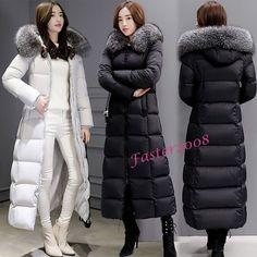 Winter Women's Maxi Long Duck Down Coats Warm Slim Jackets Fur Collar Overcoats #Unbranded #BasicCoat #Casual