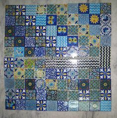 Jaipur blue pottery , indian bluepottery tiles , handmade tiles jaipur