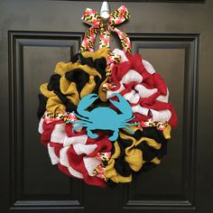 Maryland Pride Wreath/Chesapeake Blue Crab