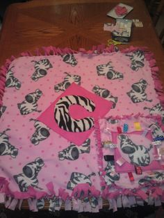 No sew blanket with a taggies blanket