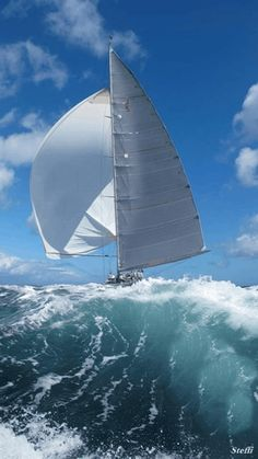 Wallpaper of boat & yacht sailing at the ocean and sea Big Waves, Ocean Waves, Yacht Boat, Sail Away, Set Sail, Am Meer, Tall Ships, Water Crafts, Belle Photo
