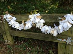 Rustic Wedding Burlap and Lace Fabric Garland by QuiltedCupcake, $28.00