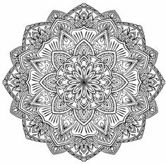 Difficult Mandala Coloring Pages. 30 Difficult Mandala Coloring Pages. Mandala Coloring Page with Multiple Angles Very Difficult Mandala Art, Mandalas Painting, Mandalas Drawing, Flower Mandala, Mandala Pattern, Flower Coloring Pages, Mandala Coloring Pages, Colouring Pages, Coloring Pages For Kids