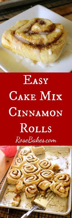 Easy Cake Mix Cinnam