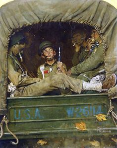 Norman Rockwell (American painter and illustrator) 1894 - 1978 Willie Gillis in Convoy, 1941