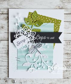 Touches of Texture, Recht uit het Hart, Flourish Thinlits, Serene Scenery DSP, Tags and Labels Thinlits ~Inge Groot