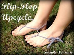 Love my new/old flip-flops... check out the tutorial!