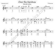 "Partitura armónica ""Over the Rainbow"" 1"