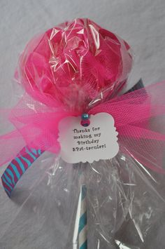 Pink chandelier spa parties for girls | Turquoise and Hot Pink Zebra Pop Girls Spa Party Favor - Set of 4