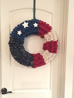 Military Wreath Navy Wreath Flag Wreath by QuirkyOwlCreations