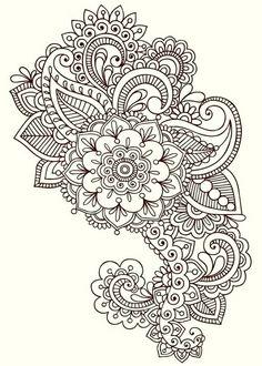 Illustration about Hand-Drawn Henna Mehndi Tattoo Flower Mandala Medallion Doodle Design with Border- Vector Illustration Design Elements. Illustration of embellishment, medallion, intricate - 14265867 Mehndi Tattoo, Henna Mehndi, Henna Tattoo Muster, Et Tattoo, Muster Tattoos, Henna Tattoos, Sleeve Tattoos, Mehendi, Sternum Tattoo