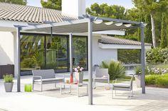 Plus de 1000 id es propos de ambiances jardin terrasse for Tonnelle avec toile retractable