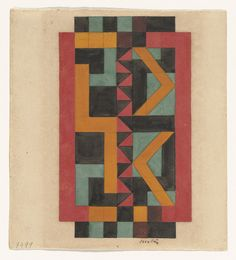 "Auguste Herbin. Composition. (c. 1925). Gouache on paper. 6 1/2 x 6"" (16.7 x 15.3 cm). The Riklis Collection of McCrory Corporation. 894.1983. © 2016 Artists Rights Society (ARS), New York / ADAGP, Paris. Drawings and Prints"