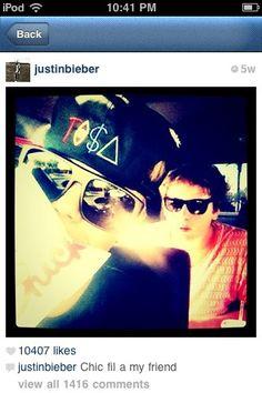 Justin Bieber loves @Chick-fil-A!!