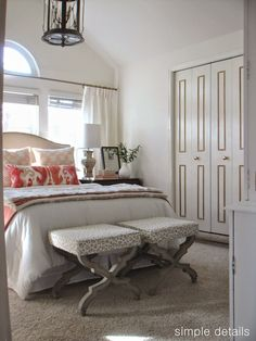 closet doors, hints of coral animal print