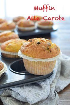 muffin alle carote con gocce di cioccolato Muffin, Dolce, Biscotti, Breakfast, Food, Home, Morning Coffee, Essen, Muffins