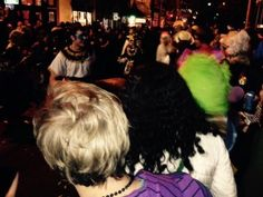 "Alombrados Oasis, the Chartered Local Body of Ordo Templi Orientis in the Valley of New Orleans inaugurated its first official Carnival krewe this year, ""Krewe What Thou Wilt.""  The Krewe paraded Saturday, January 31 under the aegis of the Krewedelusion, who immediately follow Krewe Du Vieux's parade through the Marigny and French Quarter neighborhoods. 1/31/2015"