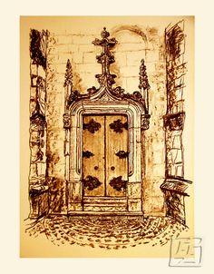 Side-entrance St. Pierre, Jarnac. Giclee. 349.