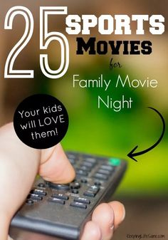 25 Sports Movies for Family Movie Night My boys love family movie night and sports movies are their favorite. Here are 25 sports movies for your next movie night. Movies For Tweens, Kid Movies, Family Movies, Great Movies, Family Games, Your Next Movie, Be With You Movie, Best Kids Watches, Family Movie Night