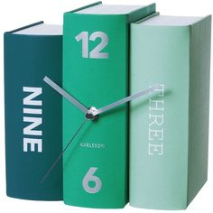 Karlsson Clocks Karlsson Book Table Clock - Emerald found on Polyvore