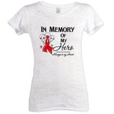 In Memory Blood Cancer Womens Burnout Tee> In Memory of My Hero Blood Cancer Shirts> Hope & Dream Cancer Awareness T-Shirt Store