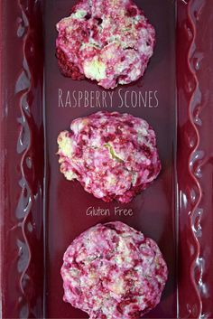 Raspberry Scones (gluten free). Quick and easy to make! Easily replace the…