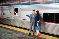 Union Station Amtrak Engagement Shoot