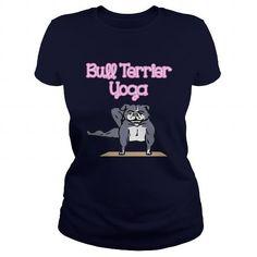 Bull Terrier Yoga T Shirts, Hoodies. Get it now ==► https://www.sunfrog.com/Jobs/Bull-Terrier-Yoga-114942470-Navy-Blue-Ladies.html?57074 $22.99