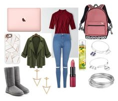 """""""School outfit!"""" by eviemadeleine ❤ liked on Polyvore featuring American Eagle Outfitters, Topshop, Victoria's Secret, Alex and Ani, Worthington, Rimmel, Casetify, UGG Australia and Chicnova Fashion"""