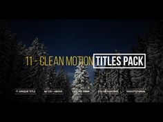Clean Motion Titles   After Effects template
