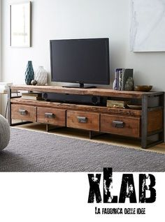Porta TV Atelier K12 in teak e ferro | Tv holder, Teak and Atelier