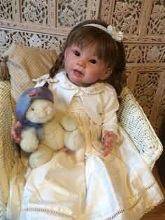 REBORN TODDLER BY LINDA MURRAY ROOTED HUMAN HAIR GLASS EYES STUNNING REALISTIC in Dolls & Bears, Dolls, Clothing & Accessories, Artist & Handmade Dolls   eBay