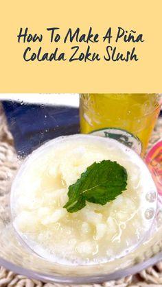 Liquid Lunch, Coconut Syrup, Slushies, Fresh Mint, Pina Colada, Summer Drinks, Pineapple, Dinner Recipes, Good Food