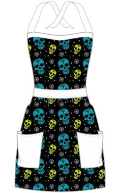 Sugar Ink Apron by Sourpuss Clothing- I don't cook very often, but I'd still wear this around the house.