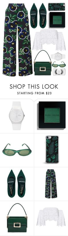 """""""florals"""" by emcf3548 ❤ liked on Polyvore featuring Swatch, Bobbi Brown Cosmetics, Sonia Rykiel, Zero Gravity, Tory Burch, Roger Vivier, Miguelina and MAC Cosmetics"""