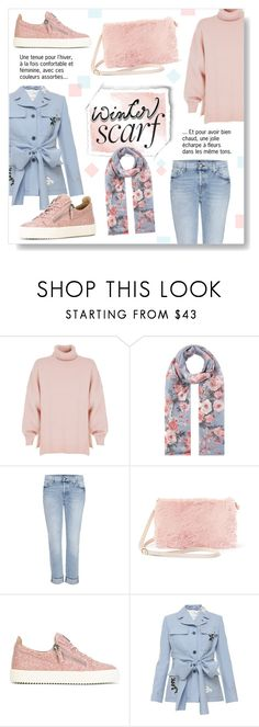 """""""Winter Scarf Style"""" by drinouchou ❤ liked on Polyvore featuring TIBI, Accessorize, 7 For All Mankind, Steve Madden, Giuseppe Zanotti, Jonathan Saunders and scarf"""