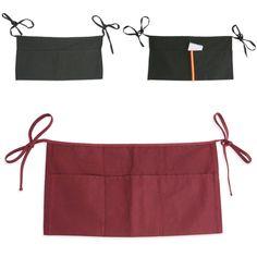 Delantal para camareros modelo Grubber corto tipo mandil de cintura pequeño para personalizar con el logotipo de la empresa.