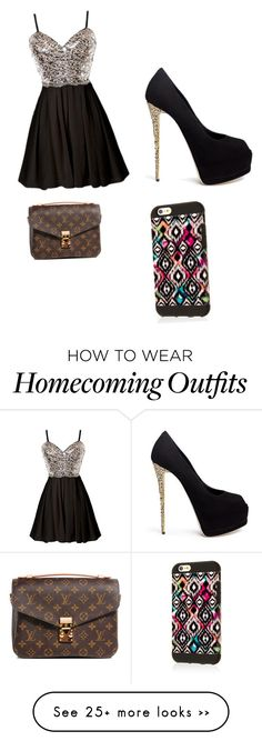 """""""Homecoming dress"""" by mayadanc on Polyvore featuring Giuseppe Zanotti and Louis Vuitton"""