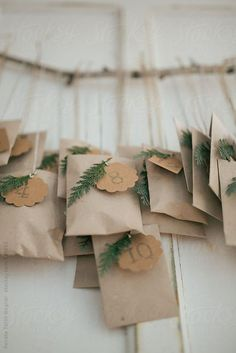 Natural advent calendar by Török Bognár Renáta for Stocksy United - Diy Gifts Christmas Countdown, Christmas Calendar, Noel Christmas, Winter Christmas, Christmas 2019, Christmas Scripture, Christmas Advent Ideas, Minimal Christmas, Christmas Tables