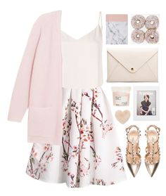Sugar Plum by cassonade on Polyvore featuring polyvore fashion style By Malene Birger L'Agence Valentino Davines Nordstrom clothing
