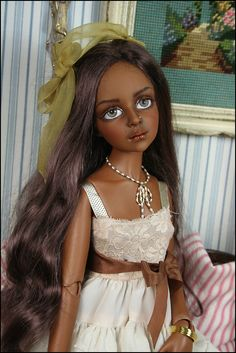 BJD doll - Tessa - Girl from India, BJD doll Realistic Dolls, Doll Repaint, Dolls Dolls, Beautiful Dolls, Puppets, India, Artists, Statue, Elegant
