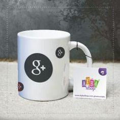 Google Plus Logolu Seramik Kupa Baskı Mugs, Youtube, Tableware, Shopping, Facebook, Google, Food, Dinnerware, Tumblers
