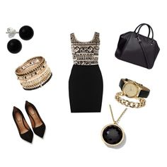 Classy by raquelsday on Polyvore featuring polyvore, moda, style, Warehouse, Givenchy, H&M, ALDO, Miss Selfridge, Ippolita and Bridge Jewelry