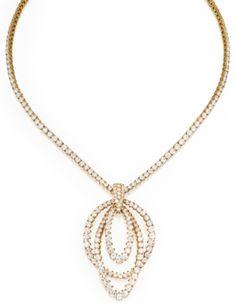 18 Karat Gold and Diamond Necklace, Piaget, and an 18 Karat Gold and Diamond Enhancer, French, Circa 1975