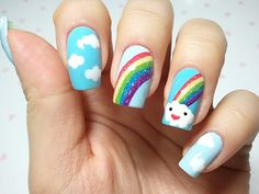 "Rainbow nails!!! Reminds us of our founder, Ranbowholic! :"")"