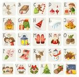 Set of christmas items, characters and situations in alphabet. Kids Vector, Free Vector Images, Vector Free, Old Fashioned Toys, Colorful Ice Cream, Element Symbols, Halloween Sweets, Fruit Vector, Easter Toys