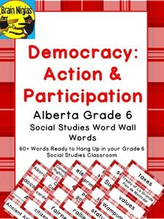 This editable resource will help your students practice more than 60 key words relating to the Grade 6 Social Studies curriculum for Alberta with a set of large word wall words for your Balanced Literacy classroom. Social Studies Curriculum, Teaching Social Studies, Teaching History, Balanced Literacy Classroom, Canadian Social Studies, Study History, Vocabulary Words, Elementary Schools, School Stuff